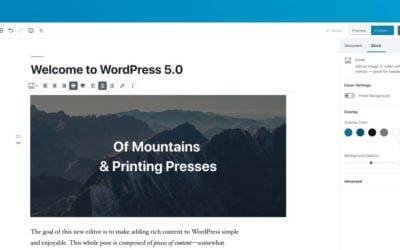 WordPress 5 – Mise à jour Majeur